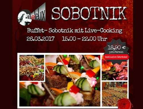 Sobotnik Buffet mit Live Cooking am 26.3.2017