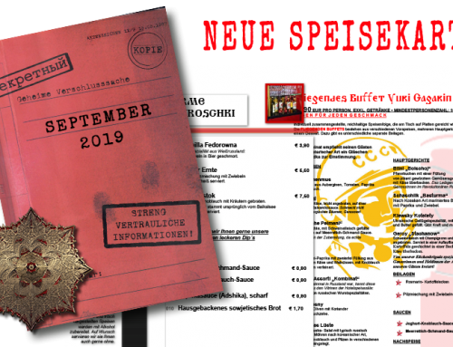Neue Speisekarte September 2019